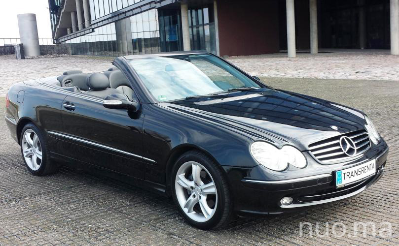 Mercedes CLK kabrioletas nuomai, Transrenta